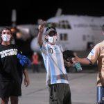 El Palomar. La Fuerza Aérea trajo de regreso a 71 argentinos que estaban varados en Perú.